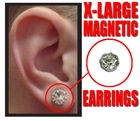 Magnetic C.Z. Pair Of Earrings (X-Large)