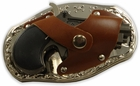 Magnum Gun Holster Belt Buckle With Lighter & Knife with Free Belt