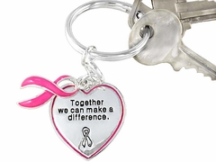 Make A Difference Charm Keychain