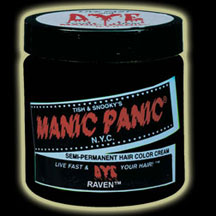 Manic Panic Hair Dye -  Raven Black Hair Color