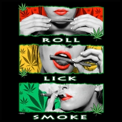 Marijuana Girl Roll Lick Smoke Men's T-Shirt