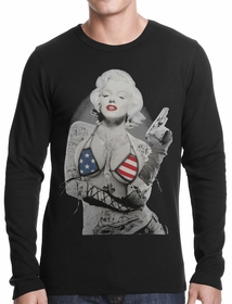 Marilyn Flag Bikini Thermal Shirt