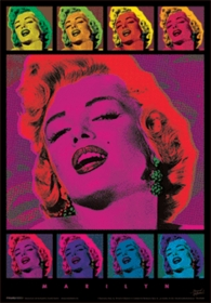 Marilyn Monroe Andy Warhol Style 3D Holographic Poster