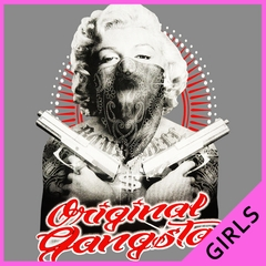 "Marilyn Monroe ""Original Gangster"" Ladies T-shirt"