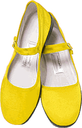 Mary Jane Cotton China Doll Slippers  (Yellow)