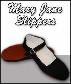 Mary Jane Cotton Chinese China Doll Slippers $7.99