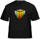MEGA 3D Rave Cube Sound Reactive Equalizer T-Shirt