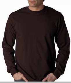 Mens premium long sleeve t shirt chocolate brown for Mens chocolate brown shirt