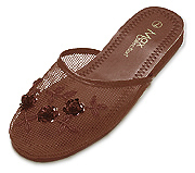 Mesh Chinese Slippers (Brown)