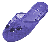 Mesh Chinese Slippers (Purple)