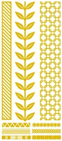 Metallic Flash Tattoos - Gold Vine Tribal