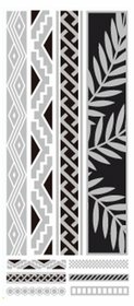 Metallic Flash Tattoos - Silver Leaf Tribal