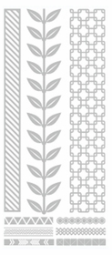 Metallic Flash Tattoos - Silver Vine Tribal
