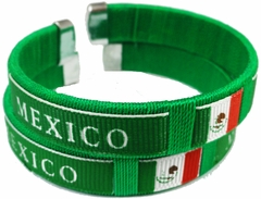 Mexico International Flag Cuff Bracelet