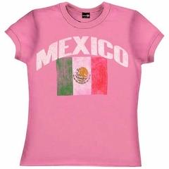 Mexico Soccer Girls T-Shirt (Pink)
