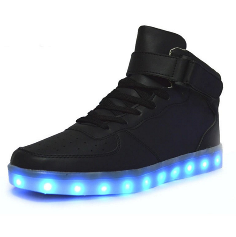 mid top led sneakers deluxe rechargeable led light up. Black Bedroom Furniture Sets. Home Design Ideas