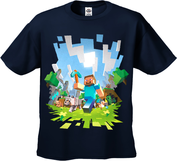 minecraft adventure kids t shirt