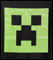 Minecraft Creeper Glow In The Dark Men's T-Shirt