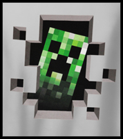 Minecraft Creeper Inside Men's T-Shirt