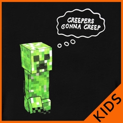 "Minecraft ""Gonna Creep"" Kids T-Shirt (Black)"