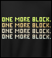 Minecraft One More Block Men's T-Shirt
