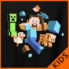 Minecraft Run Away! Kid's T-Shirt