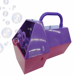 Mini Hand Held Battery Operated Bubble Machine (Purple)
