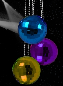Mini Multicolor 1 inch Disco Balls