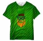 Minimalist Leprechaun St. Patrick's Day All Over Print Sublimation Mens T-shirt