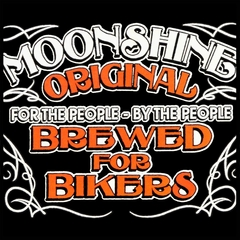 Moonshine Brewed For Bikers Men's T-Shirt
