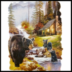 Mother Bear at the Cabin Mens T-shirt