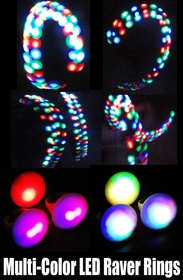 Multi-Color LED Raver Ring
