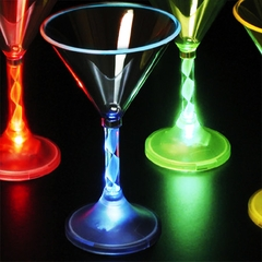 Multi-Color Light Up Martini Glass