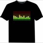 Multi Color Sound Equalizer Rave T-Shirt With Sound Sensor