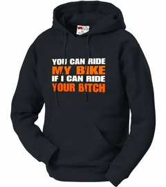 My Bike Your B*tch Adult Hoodie (Black)
