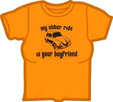 My Other Ride Is Your Boyfriend Girls T-Shirt