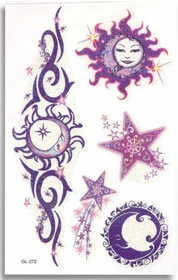 Mystical Celestial Glitter Tattoo