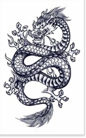 Mythic Dragon Temporary Tattoo