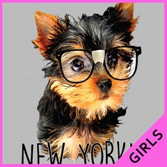 New Yorkie Funny Ladies T-shirt
