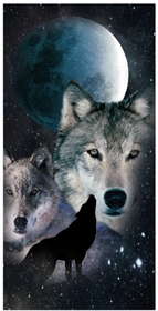 Night Wolves Beach and Bath Towel (30 x 60)