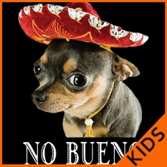 No Bueno - Chihuahua Wearing Sombrero Kids T-shirt