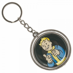Official Fallout 4 Vault Boy Thumbs Up Nuka Cola Spinner Key Ring Chain