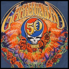 Official Grateful Dead 50th Anniversary Slate Blue Mens T-shirt