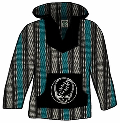 Official Grateful Dead Steal Your Face Deluxe Baja (Teal)