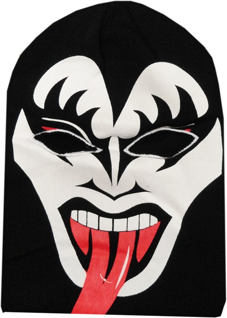 Official kiss gene simmons costume ski mask for Kiss mask template