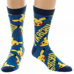 Official Pikachu Pokemon Crew Socks