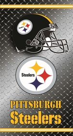 Official Pittsburgh Steelers Diamond Plate Beach & Bath Towel (30 x 60)