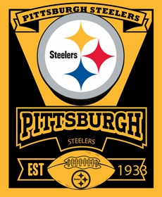Official Pittsburgh Steelers Fleece Throw Blanket (50 x 60 Inches)