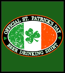 Official St. Patrick's Day Beer Drinking Men's T-Shirt