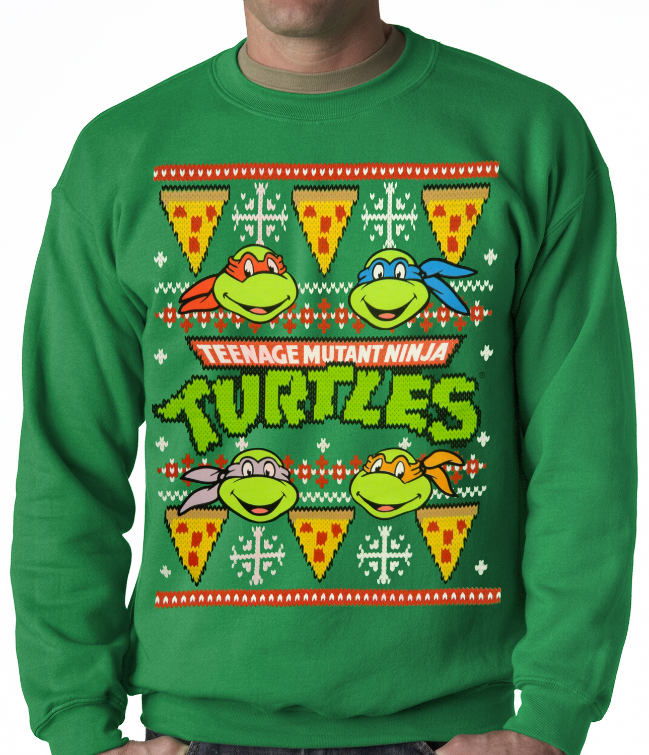 Official Teenage Mutant Ninja Turtles Ugly Christmas Sweater Adult ...